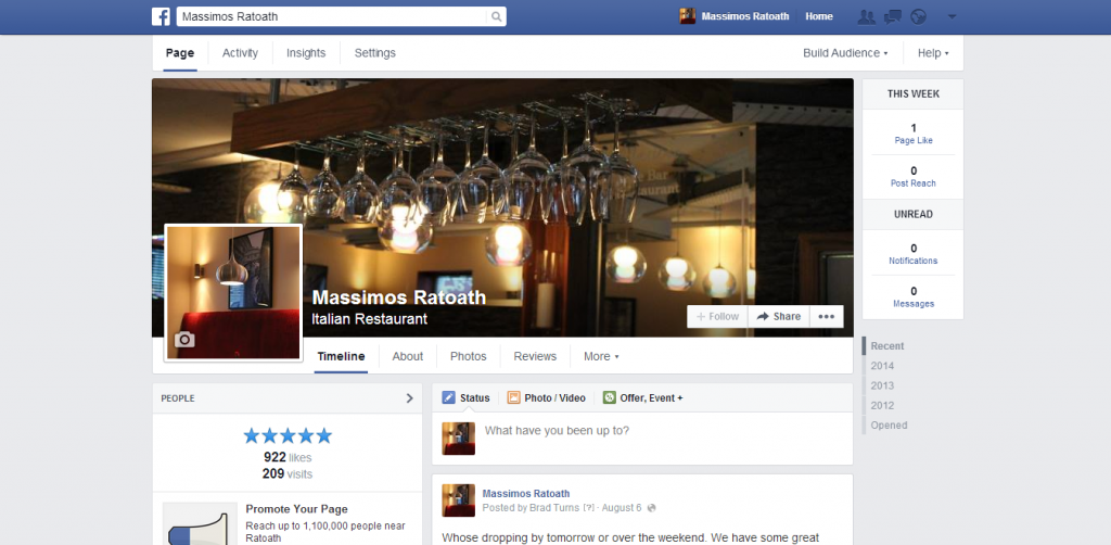 massimos social media set up ratoath ashbourne