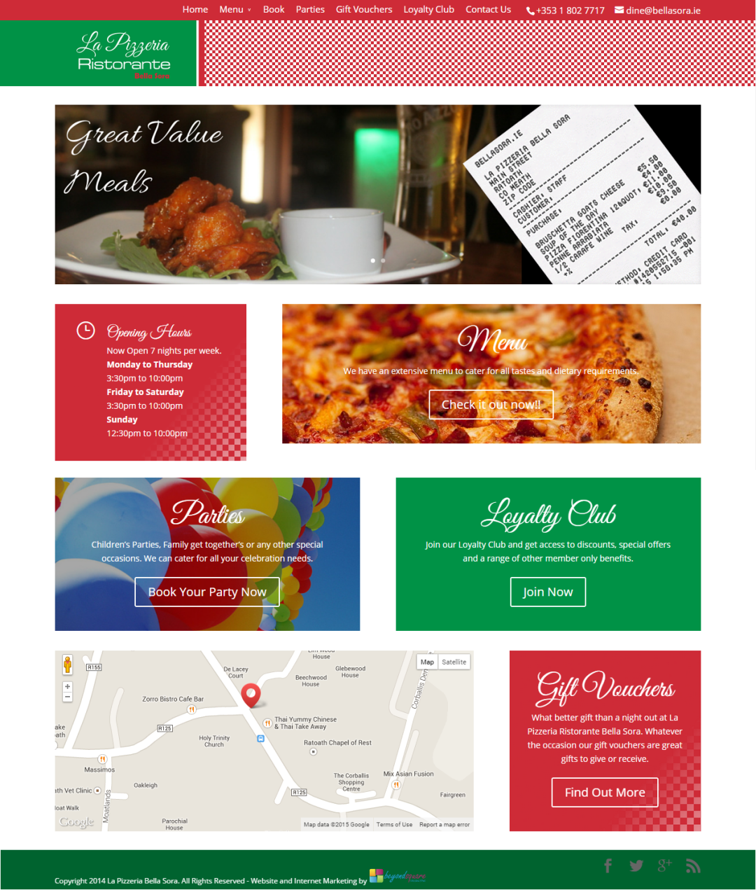La Pizzeria Bella Sora – Website