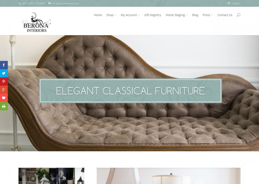berona interiors web design project