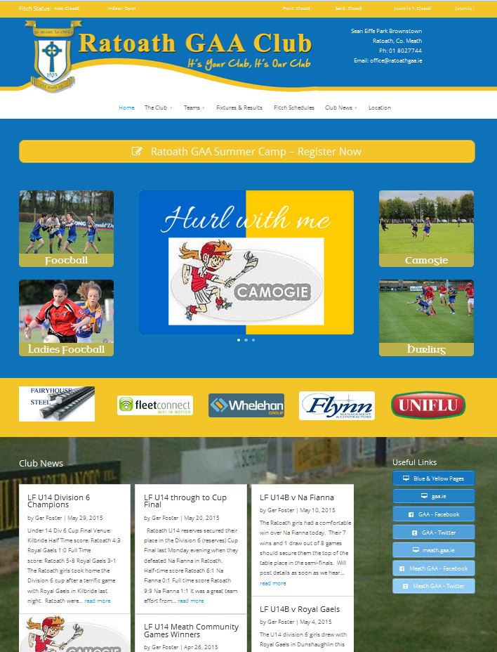 ratoath gaa web design project meath